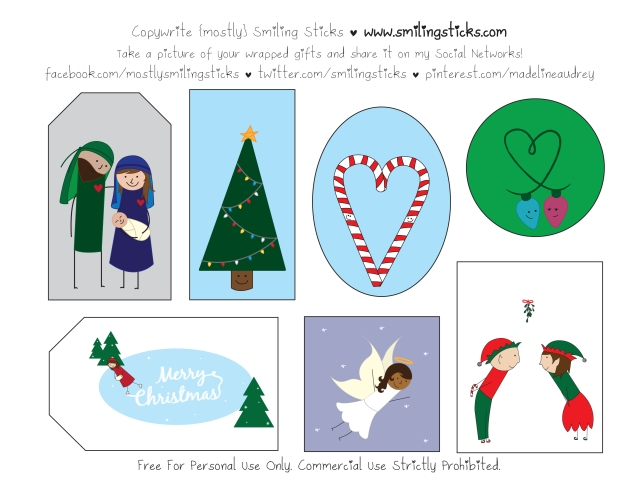 Freebie Christmas Tags