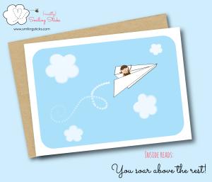 Paper Aeroplane Greeting Card