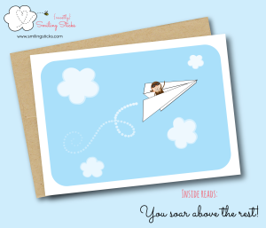 Paper Aeroplane Greeting Card